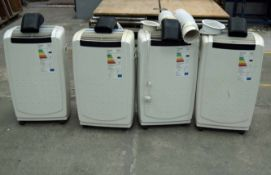 Four Portable Heavy Duty Airconditioning Units (As Photographed)