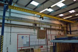 An Approx. 14M x 10M x 4.6M high Bolted Steel Girder Framed Travelling Crane Hoist with 10M, 250Kg