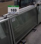 Six Approx. 1600mm x 800mm Glass Chiller Cabinet Door Units (As Photographed)