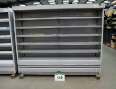 A VERCO C250 Multideck Chiller Cabinet (Unused) and Shelving (As Photographed)