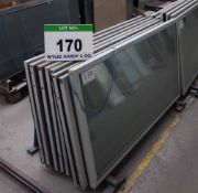 Eight Approx. 1600mm x 800mm Glass Chiller Cabinet Door Units (As Photographed)