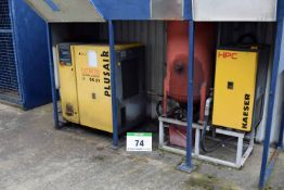 A 2005 HPC SK21 Packaged Compressor, 61144 Recorded Hours, Serial No. 1187 with A KAESER TCH22 Air