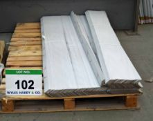 A Pallet of Protective Corners, Off-Cuts and A Packing Bench (As Photographed)