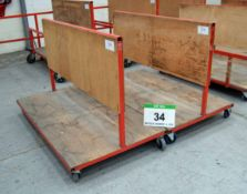 Two 1700mm x 1000mm Welded Steel Materials Handling Trolleys (As Photographed)
