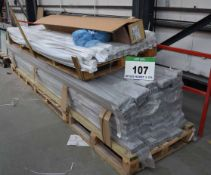 Two Pallets of PVC Extruded Trim for Chiller Cores (As Photographed)