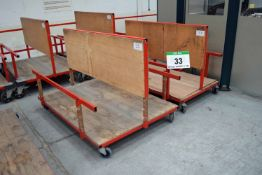 Two 1700mm x 1200mm Welded Steel Materials Handling Trolleys (As Photographed)
