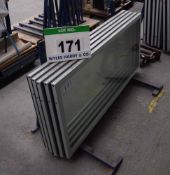 Five 1495mm x 640mm x 40mm Glazed Chiller Cabinet Doors (As Photographed)