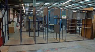 A 6.8M x 2.5M x 1.2M Welded Steel Sheet Storage/Stock Rack (As Photographed)