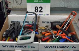 Two Boxes of Hand Tools (As Photographed)
