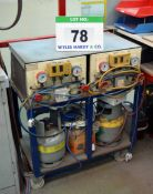 Two Refrigerent Reclam Units and Manifolds (As Photogrhaphed)