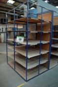 A 1.7M x 2.5M x 1.2M Welded Steel Double Sided Parts/Stock Rack (As Photographed)