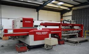 A 1999 NISSHINBO HIQ-1250 Turret Punch Press, Serial No. HIQH 99005 30-Ton capacity, 30-Station Auto