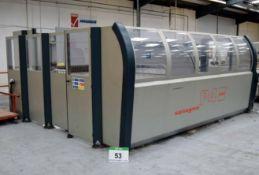 A 2002 SALVAGNINI P4M 2512 CNC Panel Bending Machine, Serial No. 936311 with HPT 2715 Auto