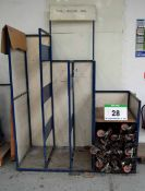 A Quantity of Welded Steel Twin Castor Dollies and Storage Rack (As Photographed)