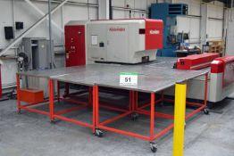 A 2002 NISSHINBO HIQ 1250 Turret Punch Press, Serial No. HIQN-14097 22-Ton capacity, 30-Station