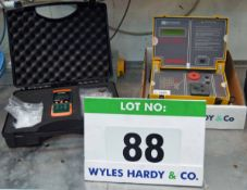 Two Boxes of Test Equipment including a RS Pat Tester (As Photographed)