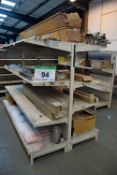 The Contents of the Gondola Shelving including LED/Fluorescent Lighting and Chiller Dividers (As