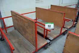 Three 1700mm x 1300mm Welded Steel Materials Handling Trolleys (As Photographed)