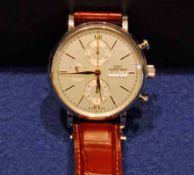 IWC SCHAFFHAUSEN Portofino Gentleman's Stainless Steel Chronograph Wrist Watch, Day/Date Function,