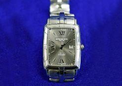 A RAYMOND WEIL 'Parsifal' Barrel Stainless Steel Men's/Unisex Wrist Watch with Quartz Movement (