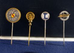 "A Protective Case containing Four Lapel Pins, One bearing the words ""Badischer Tennis Verband"" ("