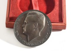 A Cast Medal, 40mm in diameter, bearing a Relief of Rainier III Prince De Monaco and his Head on