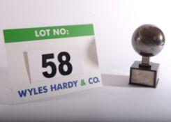 A Sterling Silver (925 Standard, 1991 BORGILA) Winners Replica Trophy 1991 Stockholm Open Singles in
