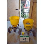 Lot 43 - Two Pedestrian operated Seed Distribution Hoppers (For Spares/Repairs)
