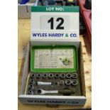 Lot 12 - A RECA 4-in-1 Power System 10-24mm Splined Socket Set with Plug Socket and Half inch Square Drive