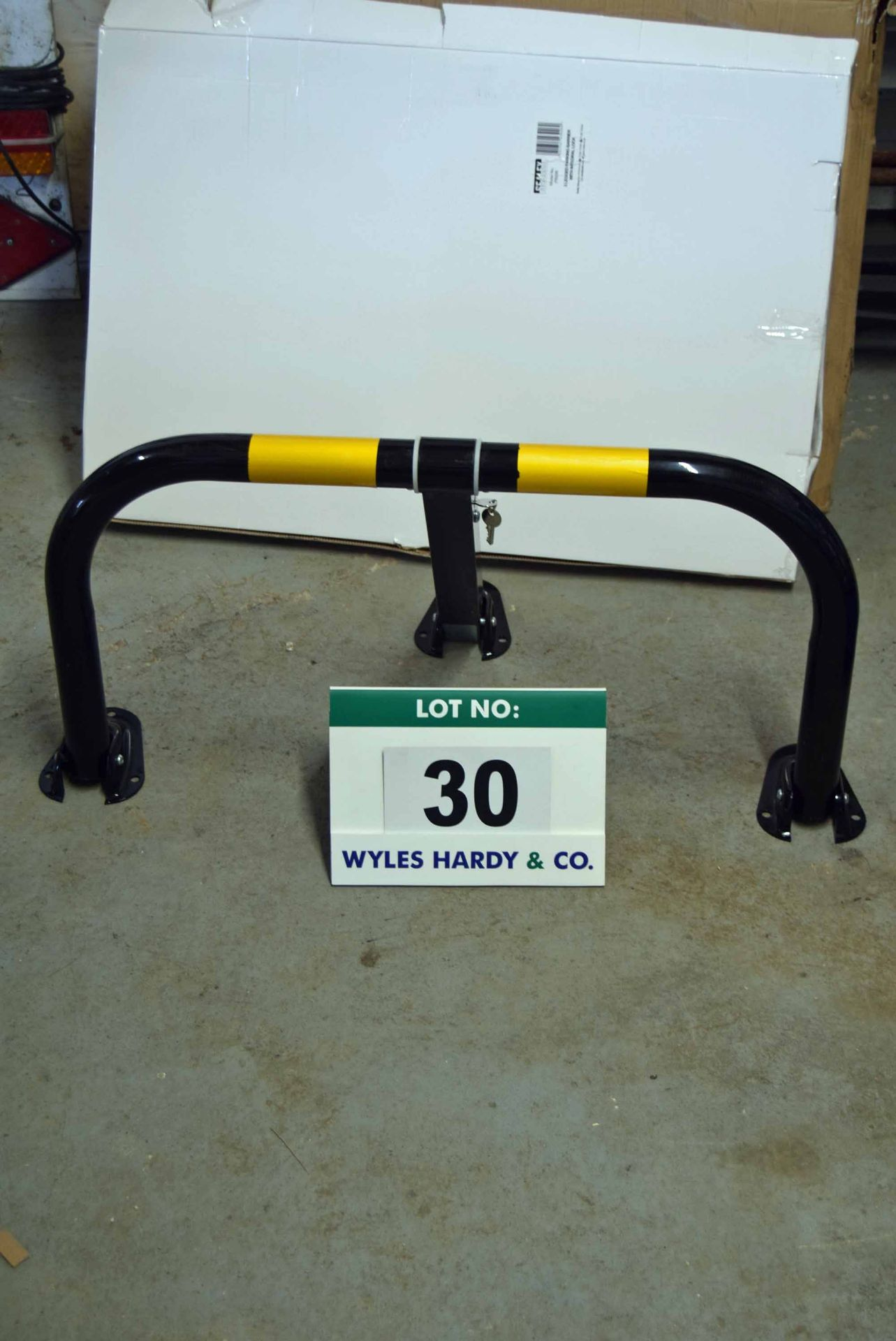 Lot 30 - Two Sets of Two SEALEY Model PB298 Parking Barriers (Boxed and Unused)