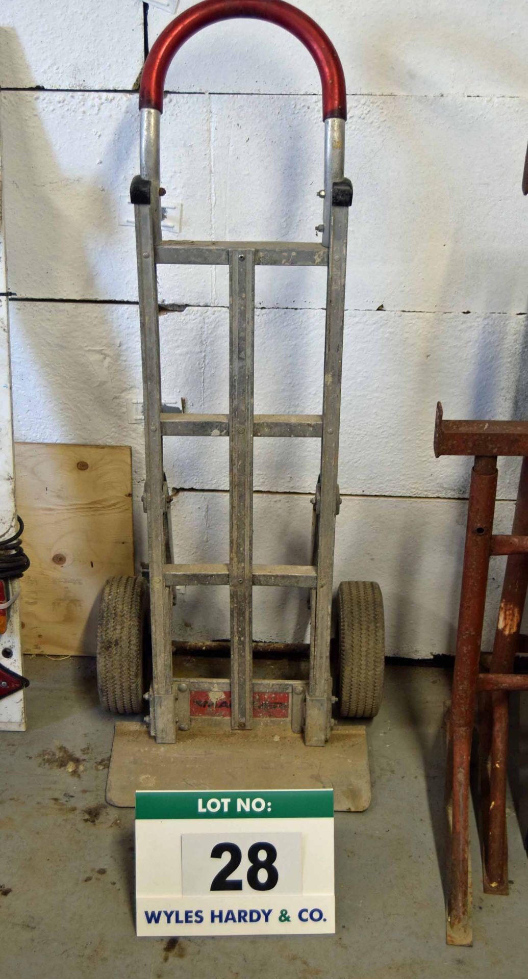 Lot 28 - A Light Alloy Framed Sack Barrow on Pneumatic Tyres