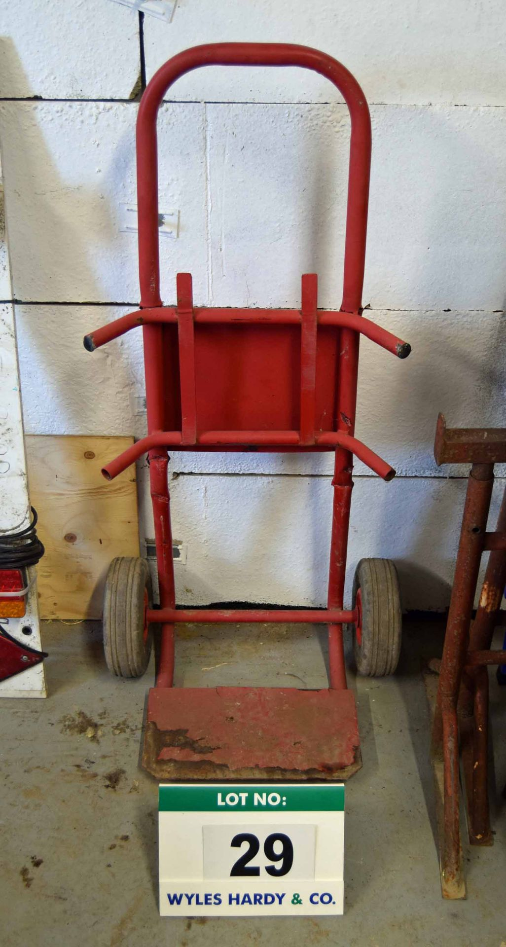 Lot 29 - A Steel Framed Sack Barrow on Pneumatic Tyres