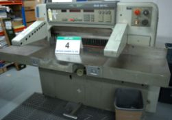A POLAR MOHR Model 92 EMC 92cm Mechanical Paper Guillotine, Serial No. 6011113 with fitted Auto Back
