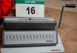 A RENZ WBS360 Manual Comb Binding Machine