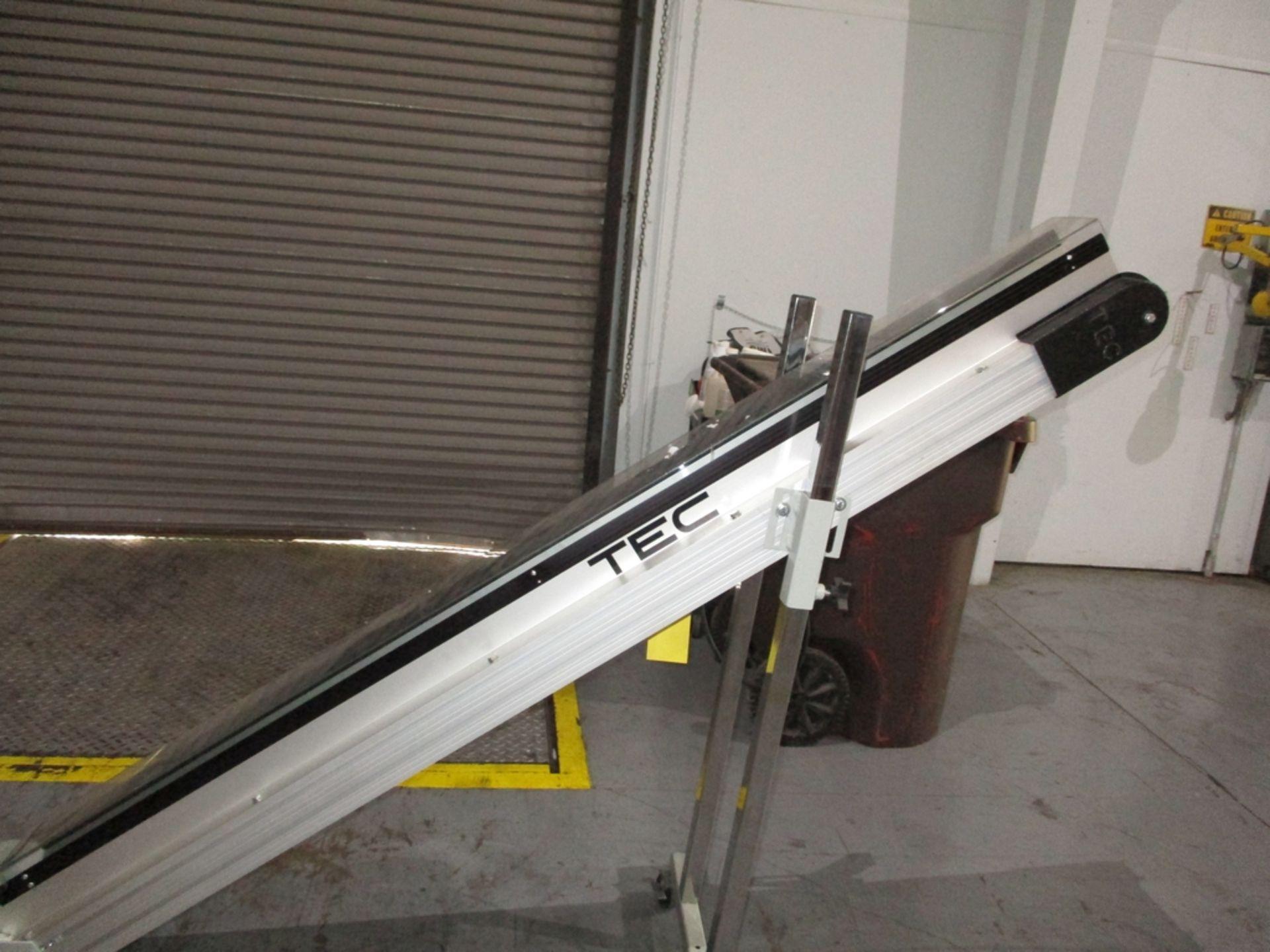 "Lot 1019 - TEC Conveyor - 6"" Wide; Bottom Length 4'; LOA 10'; Variable Discharge Height; 220V"