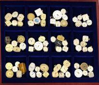 UHRWERKE, Sammlung v. 72, meist DAU, versch. Hersteller, 2. Hälfte 19. Jh. bis 1980er Jahre, Werke