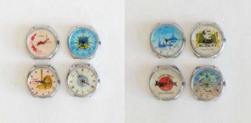 HAU, Konvolut von 8, Rußland, 1x Hersteller Uhrenfabrik Petrodworez/ Leningrad, Marke Raketa, 3x
