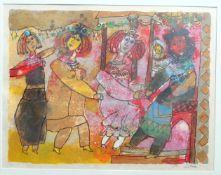 "TOBIASSE, Théo (*26.4.1927 Jaffa +3.11.2012 Cagnes-sur-mer), Farblithographie/ Japan, ""Die"