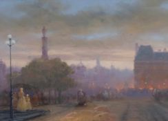 MARKOV, Elena (*1949 Winnica), Pastell/Papier, Pariser Straßenszene, rechts unten signiert, 26,5 x