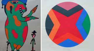 HAACK, Dieter (*1941 Gladbeck), Farbseriegraphie, Tondoform, geometrische Komposition, links unten