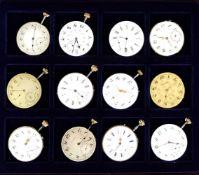 UHRWERKE, Sammlung v. 12, Taschenuhren, versch. Hersteller, Ende 19. bis Anfang 20. Jh., gebläute