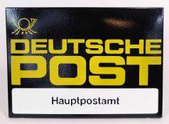 EMAILLESCHILD, DDR, Deutsche Post/ Hauptpostamt, 42 x 59,5 cm, Zustand 0 - 1