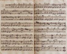 """Schwanberger Nie im Druck erschienen - """"Sonata"""".(Kopftitel). Musikmanuskript auf kräftigem Bütten."""