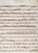 """Unbekannte Variationen über """"Ah! vous dirai-je maman"""" - """"Sonata I (II, III).""""(Kopftitel)."""
