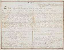 Kärnten - Kalligraphierte Abschrift der Proklamation von Napoleon an das Volk von Kärnten am 31.