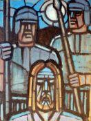 """""""Geburt Christi"""" und """"Verhaftung des Jesus"""" - Erich Waske (1889-1979)Mischtechnik auf Papier, Geburt"""
