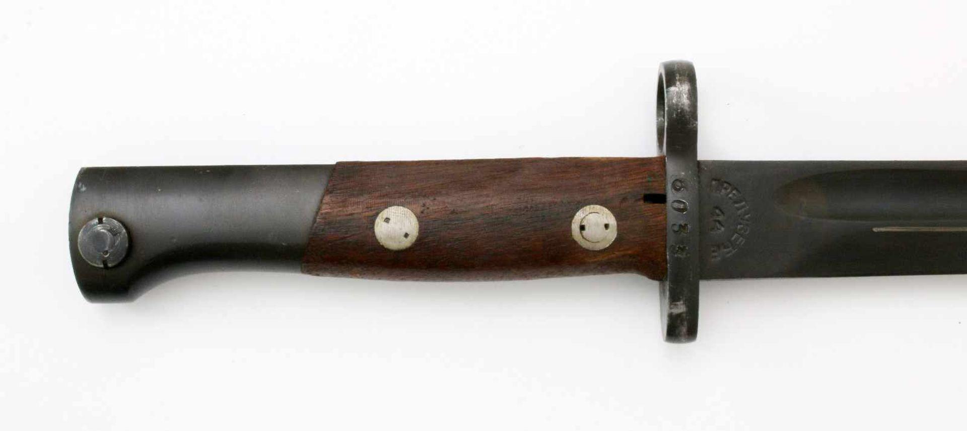 """Jugoslawien - Messerbajonett Mauser 24/44/48Gekehlte Rückenklinge, Herst. """"Preduzece"""" über 44 auf - Bild 3 aus 4"""