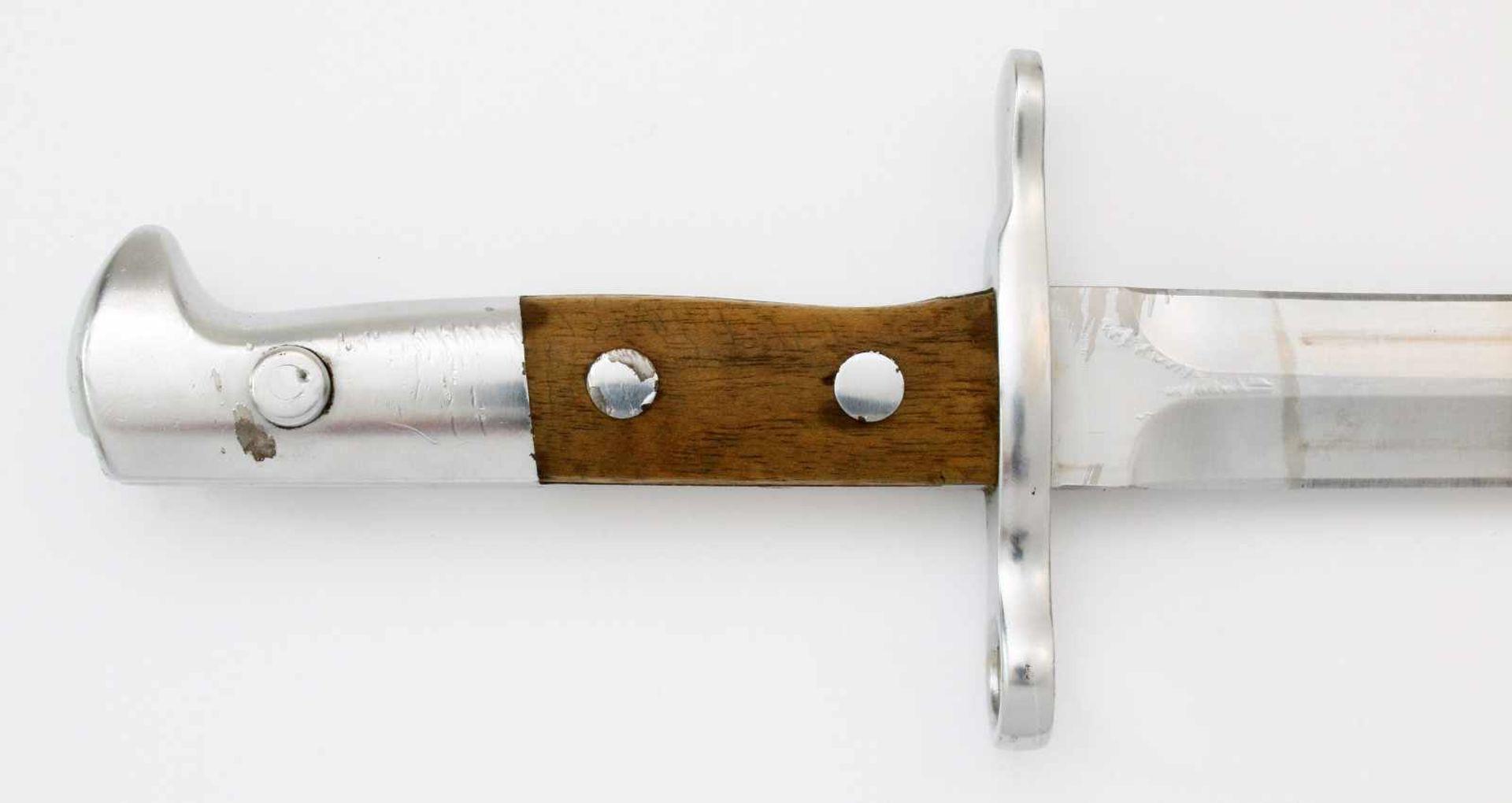 """Schweiz - Dolchbajonett Schmidt Rubin M1918/1931Zweischneidige, gegratete Dolchklinge, Herst. """" - Bild 4 aus 5"""