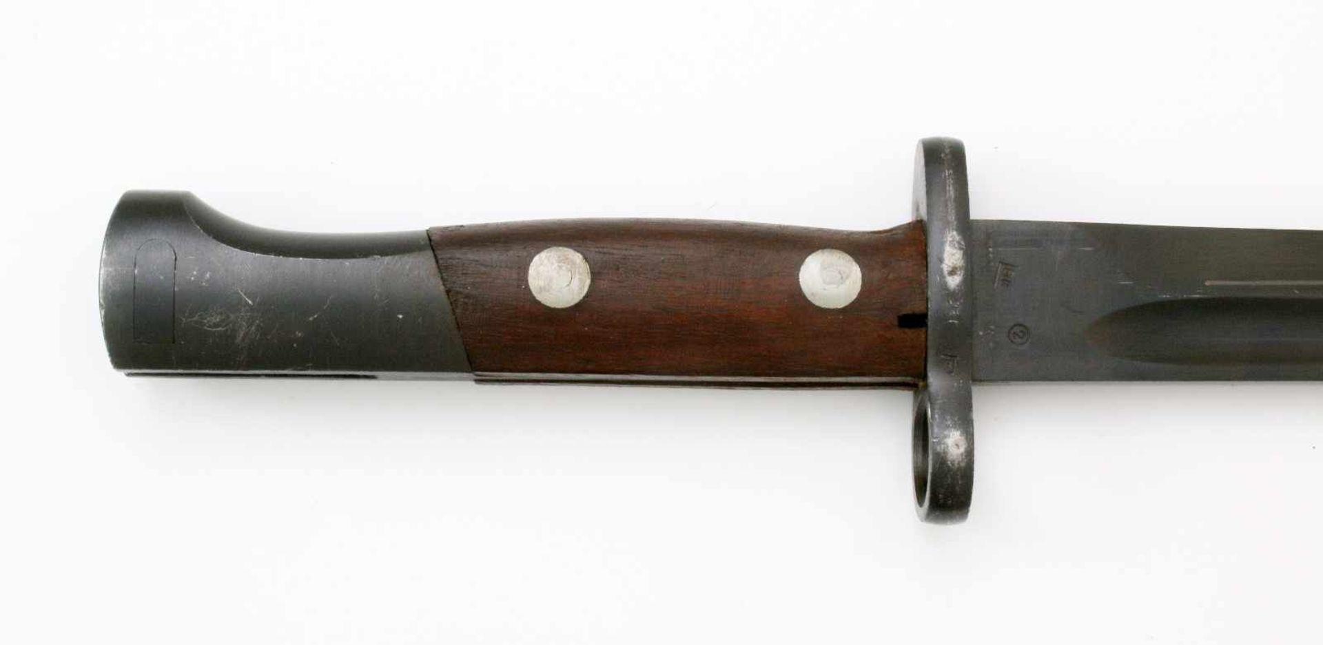 """Jugoslawien - Messerbajonett Mauser 24/44/48Gekehlte Rückenklinge, Herst. """"Preduzece"""" über 44 auf - Bild 4 aus 4"""