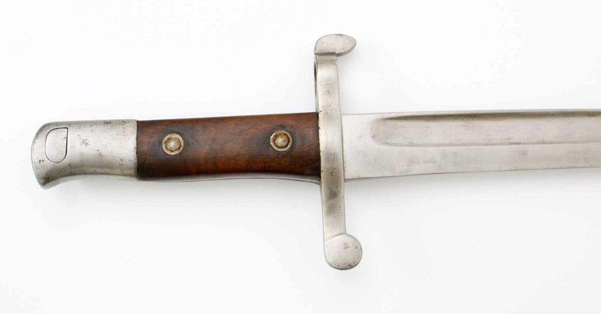 """Portugal - Bajonett Kropatschek M1885Blanke, gekehlte Yataganklinge, Herstellerstempel """"OEWG"""" ( - Bild 3 aus 4"""